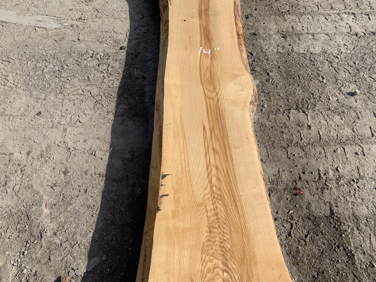 live edge ash, wooden tops, tabletops