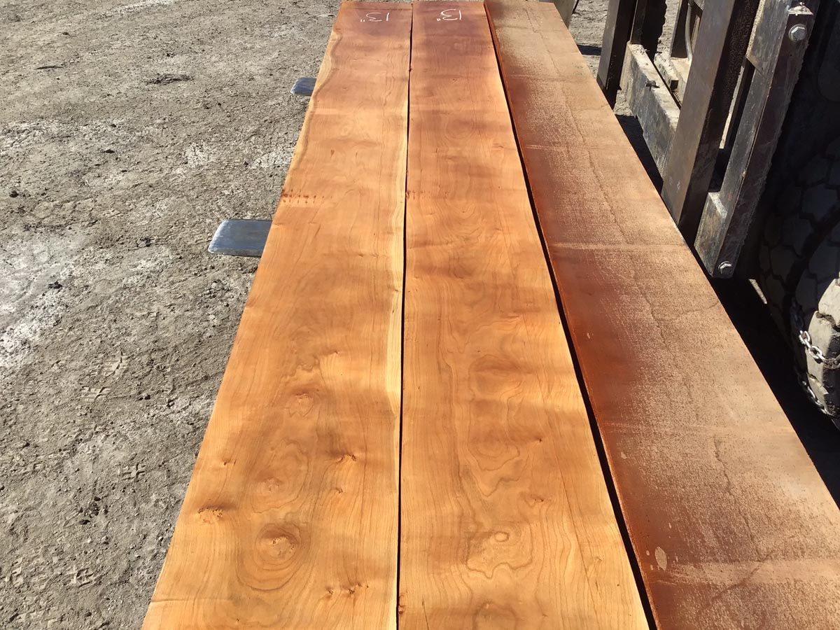 curly cherry lumber matched set, wooden tops, high quality lumber