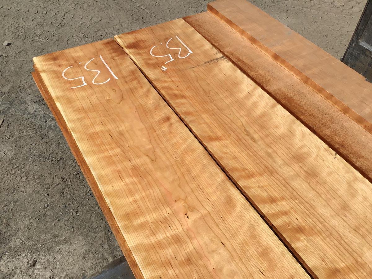 curly cherry lumber, wooden tops, premium lumber