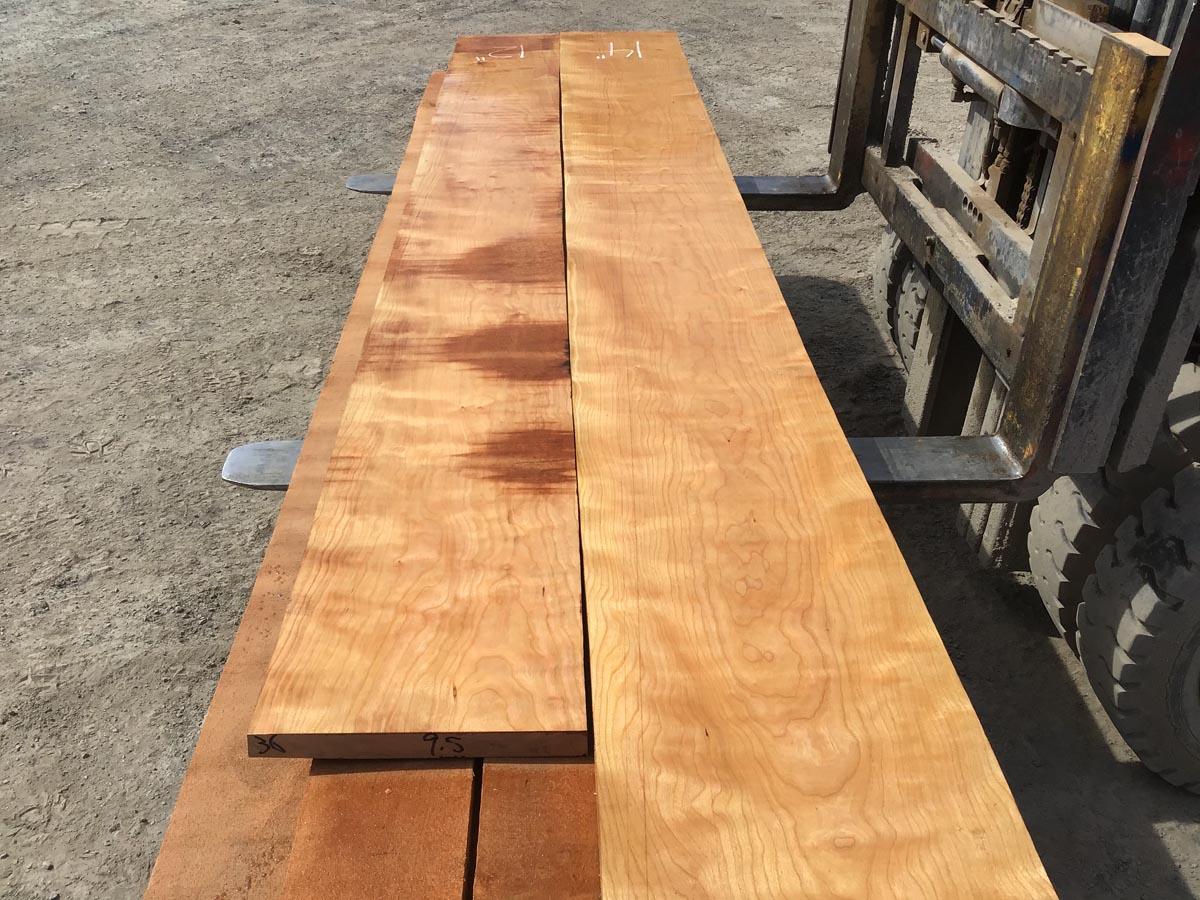curly cherry lumber, high quality curly cherry, premium lumber