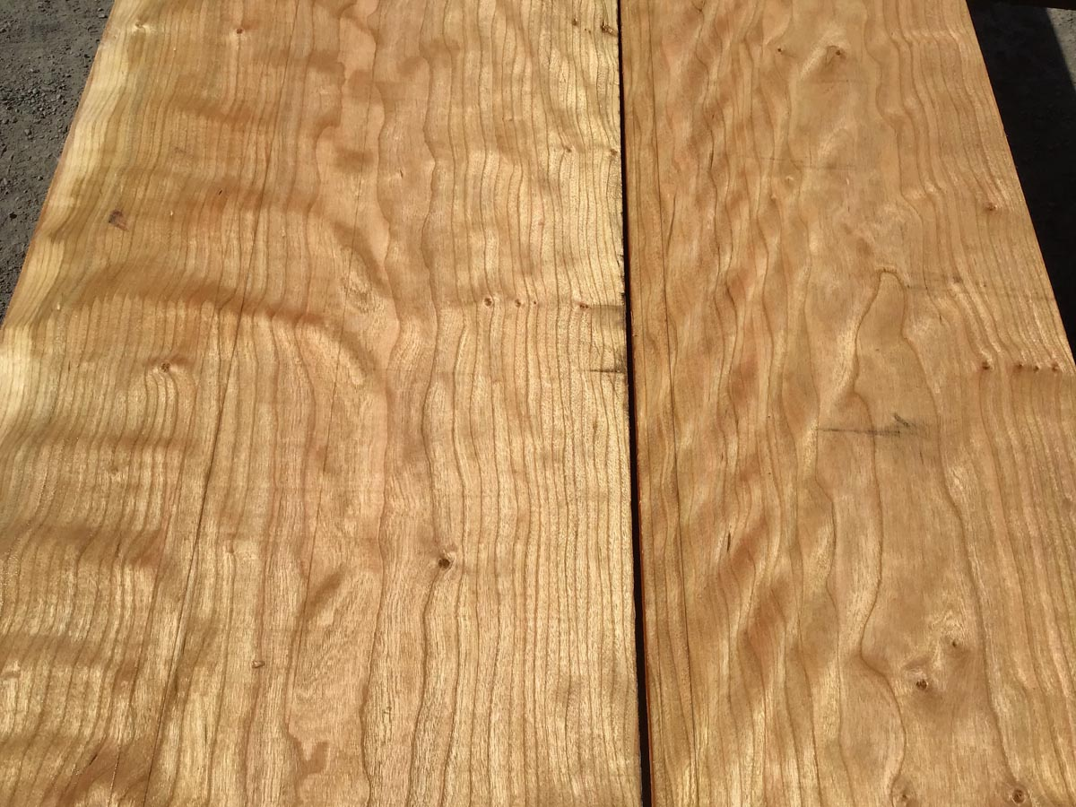curly cherry lumber, wooden tops, premium lumber