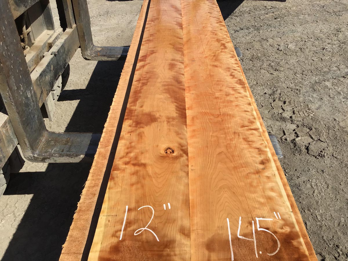 curly cherry lumber, high quality curly cherry, wide curly cherry