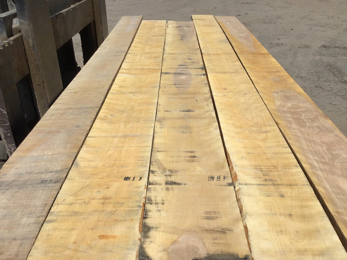 curly birch grade lumber, premium lumber, figured hardwood, wooden tops
