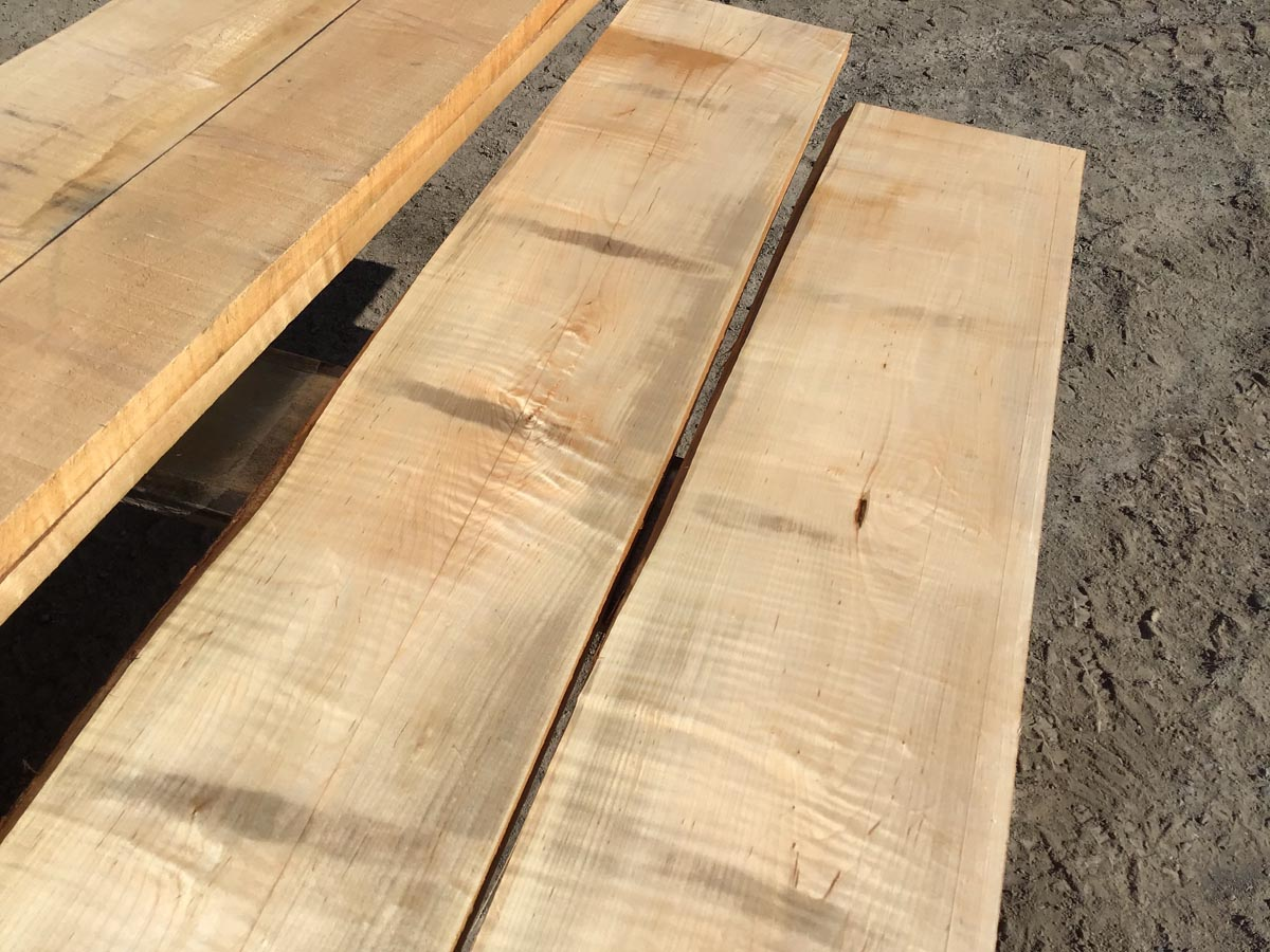 tiger maple lumber, soft maple, wooden tops