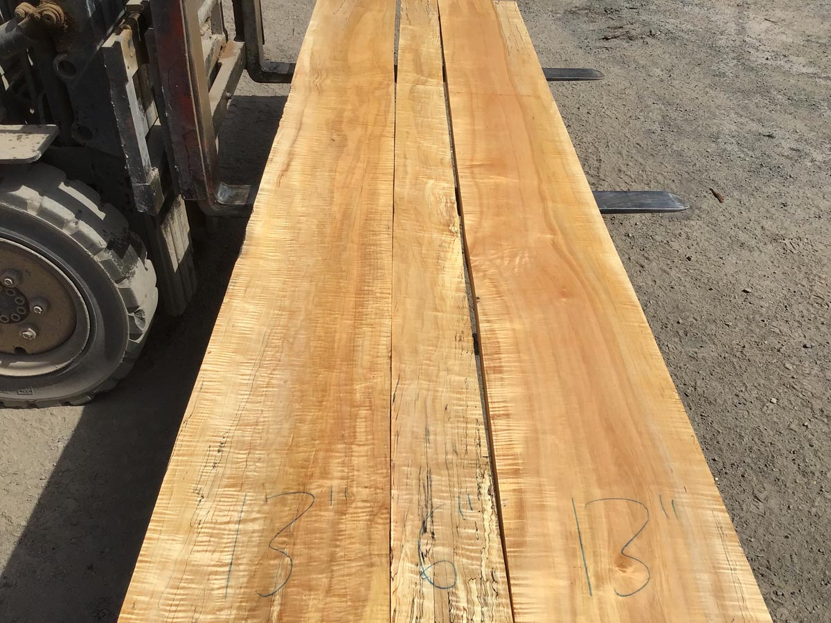 spalted curly maple tabletop, premium lumber, high quality lumber