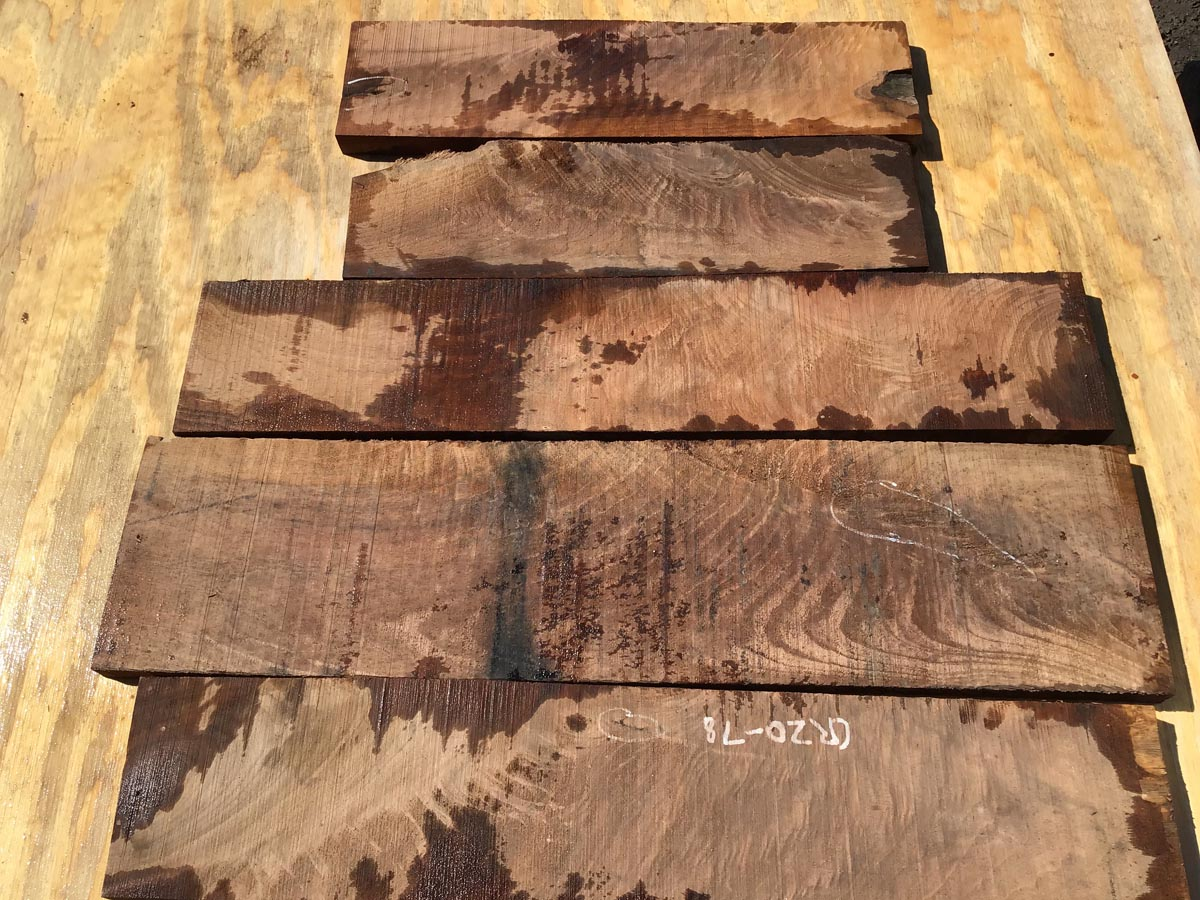 walnut crotches, unsteamed walnut, drawer fronts, door fronts
