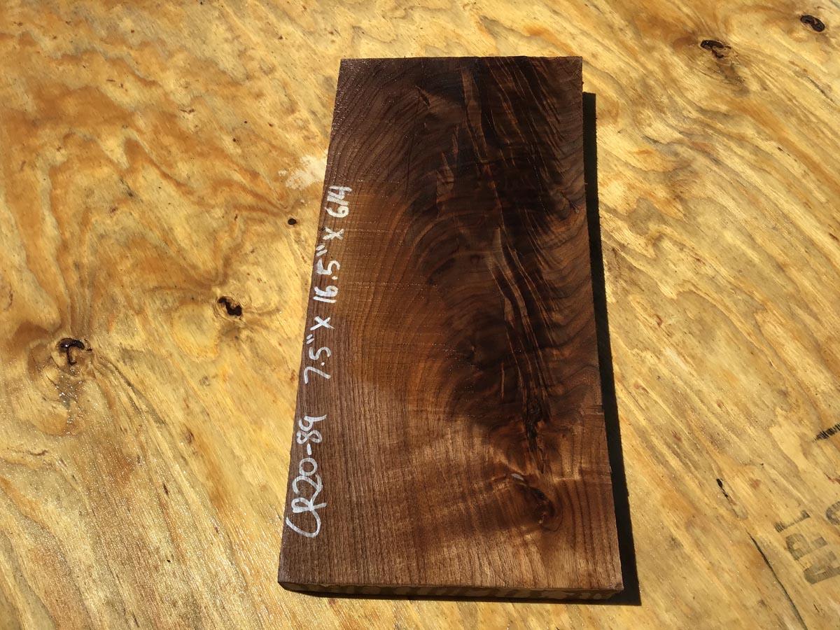 walnut crotch, door panel, drawer panel, figured walnut