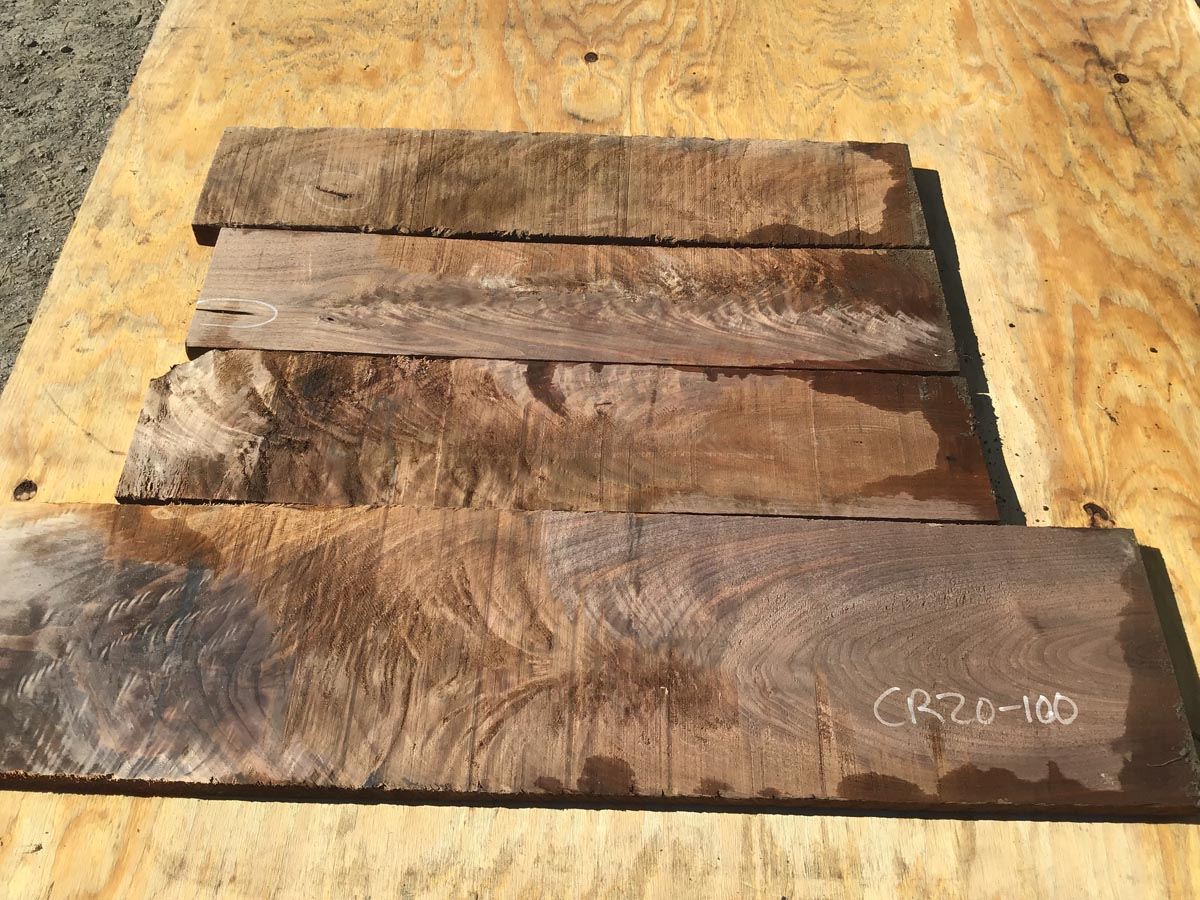 walnut crotches, drawer fronts, door fronts, figured walnut