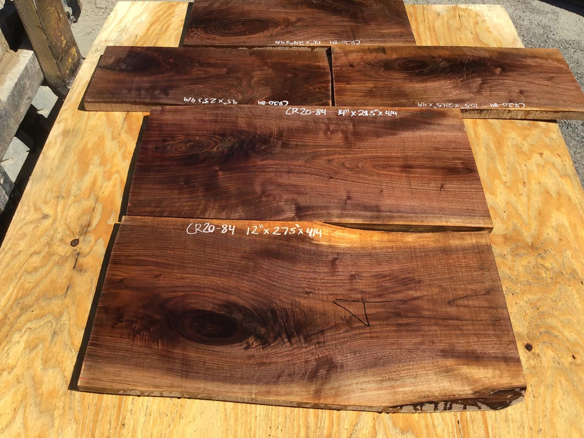 walnut crotches, door panels, drawer panels, figured walnut