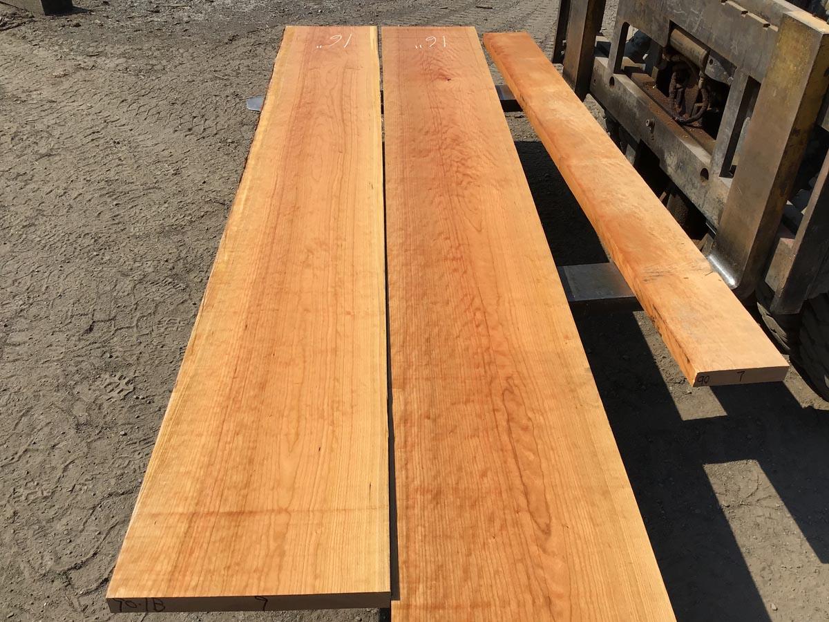 cherry lumber matched set, hardwood tops, premium lumber