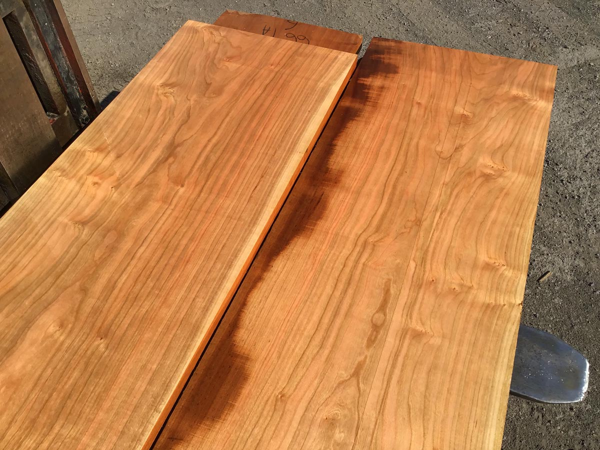 cherry lumber matched set, wooden tops, high quality lumber
