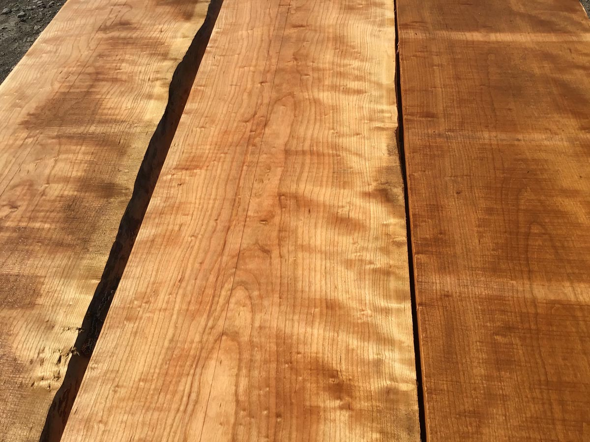 curly cherry tabletop, premium lumber, high quality curly cherry