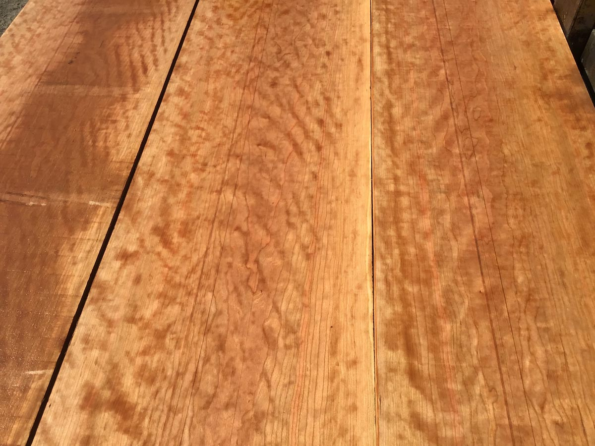 curly cherry tabletop premium lumber, high quality curly cherry