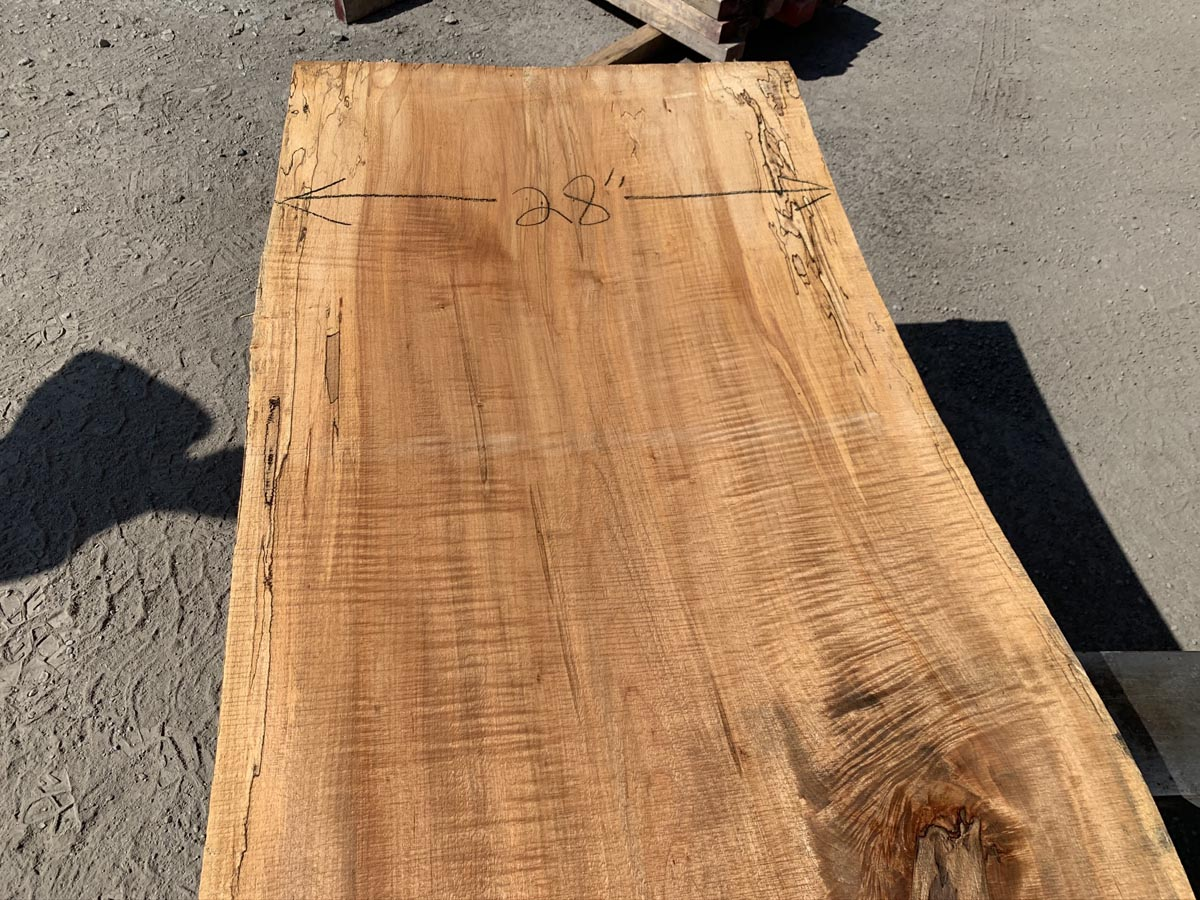 spalted maple slab, wooden tops, premium lumber, 10/4