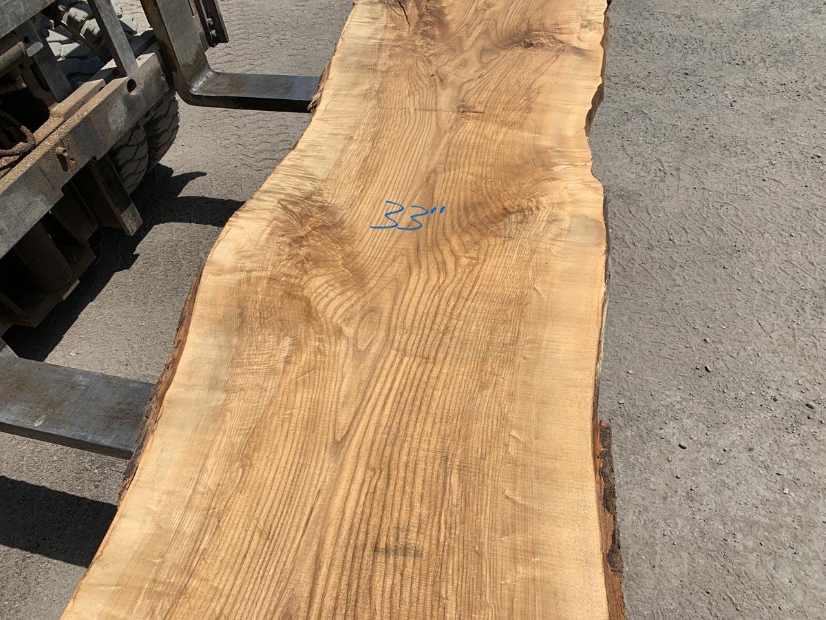 live edge figured ash, live edge slab, hardwood lumber, high quality lumber