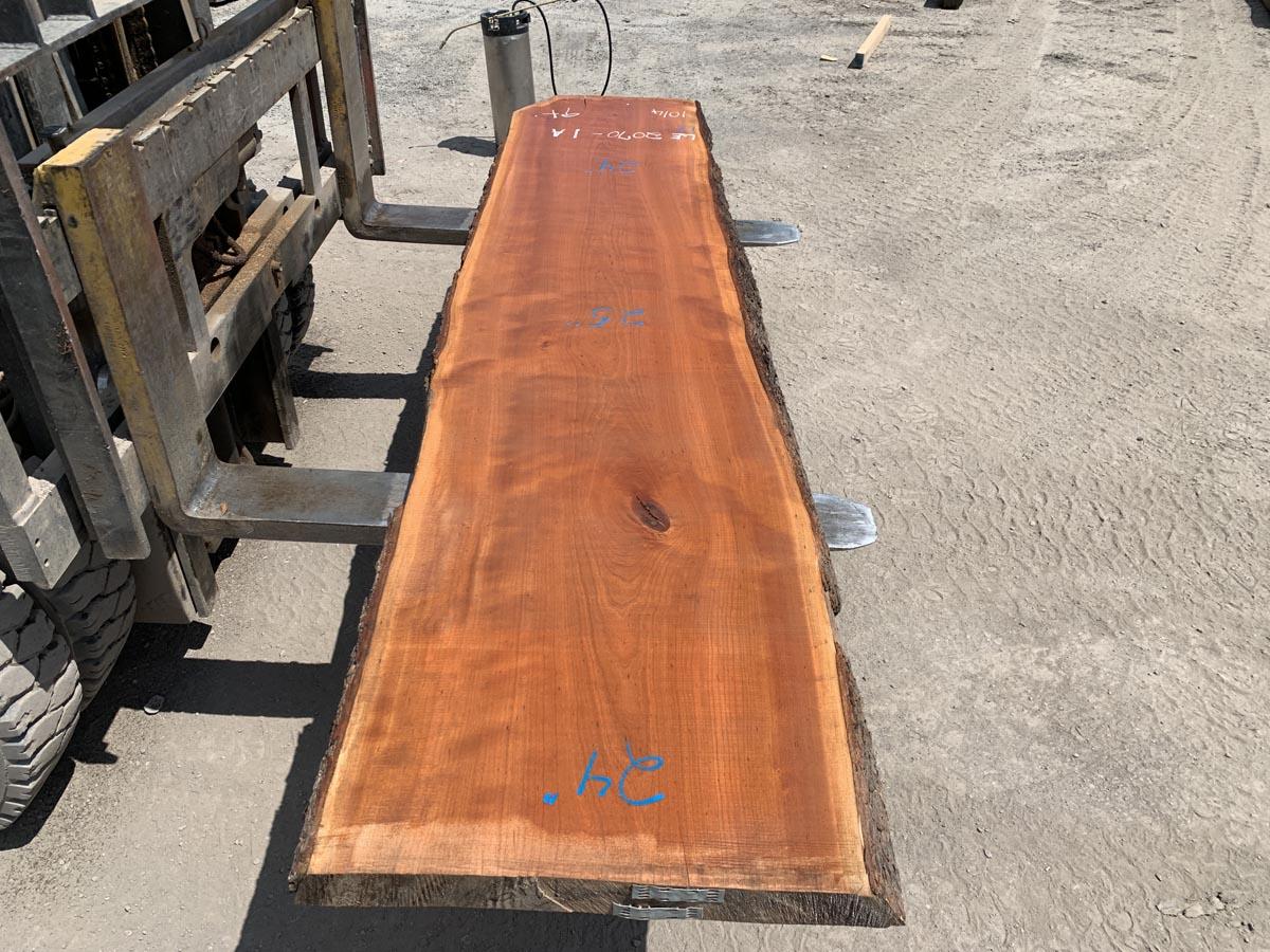 live edge cherry slab, wooden tops, premium lumber, high quality lumber