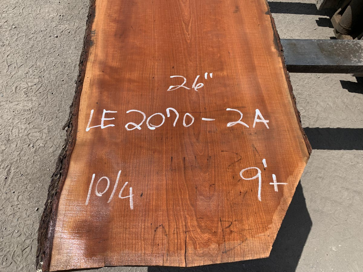 live edge cherry slab, wooden tops, premium lumber, high quality lumber