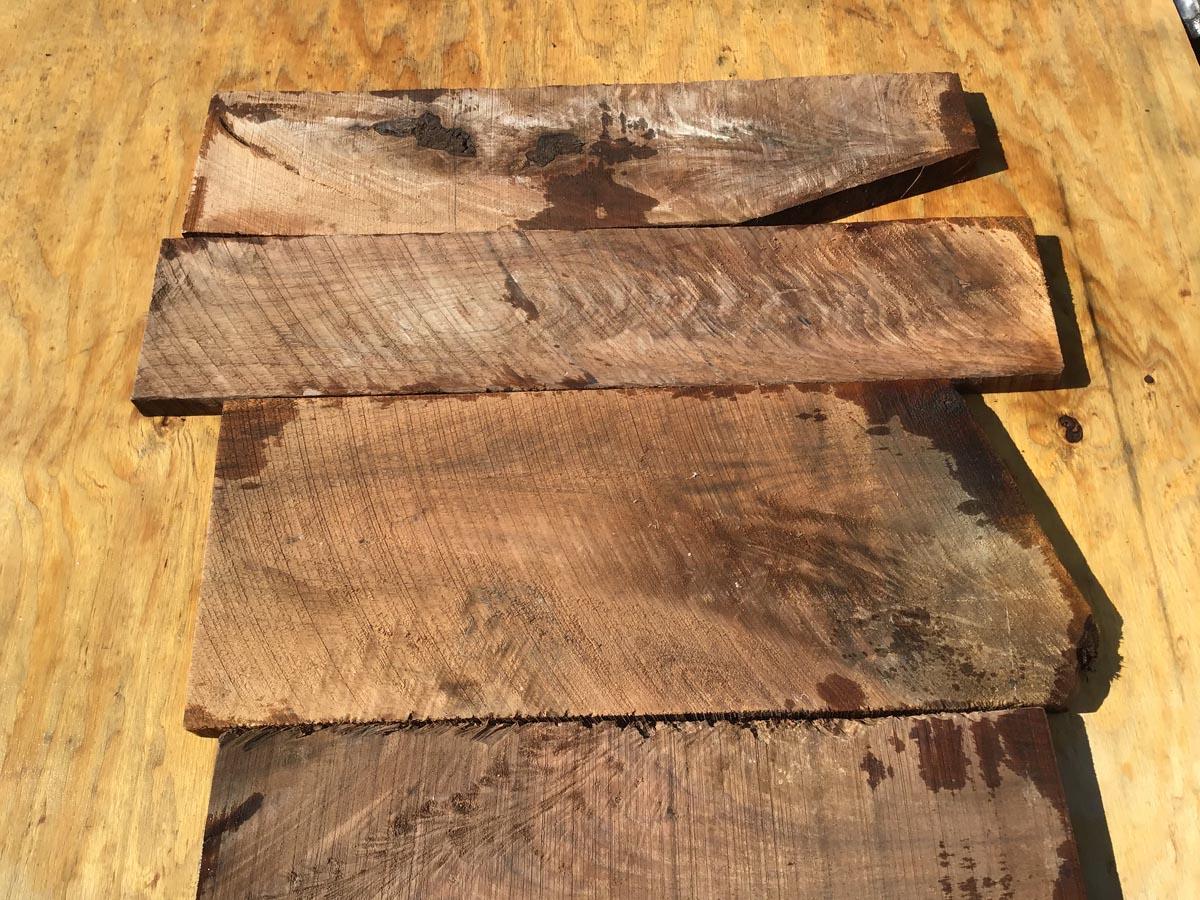 walnut crotches, drawer fronts, door fronts, figured walnut, unsteamed walnut