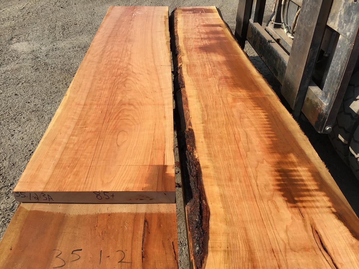 wide cherry lumber, wooden tops, premium lumber, high quality lumber