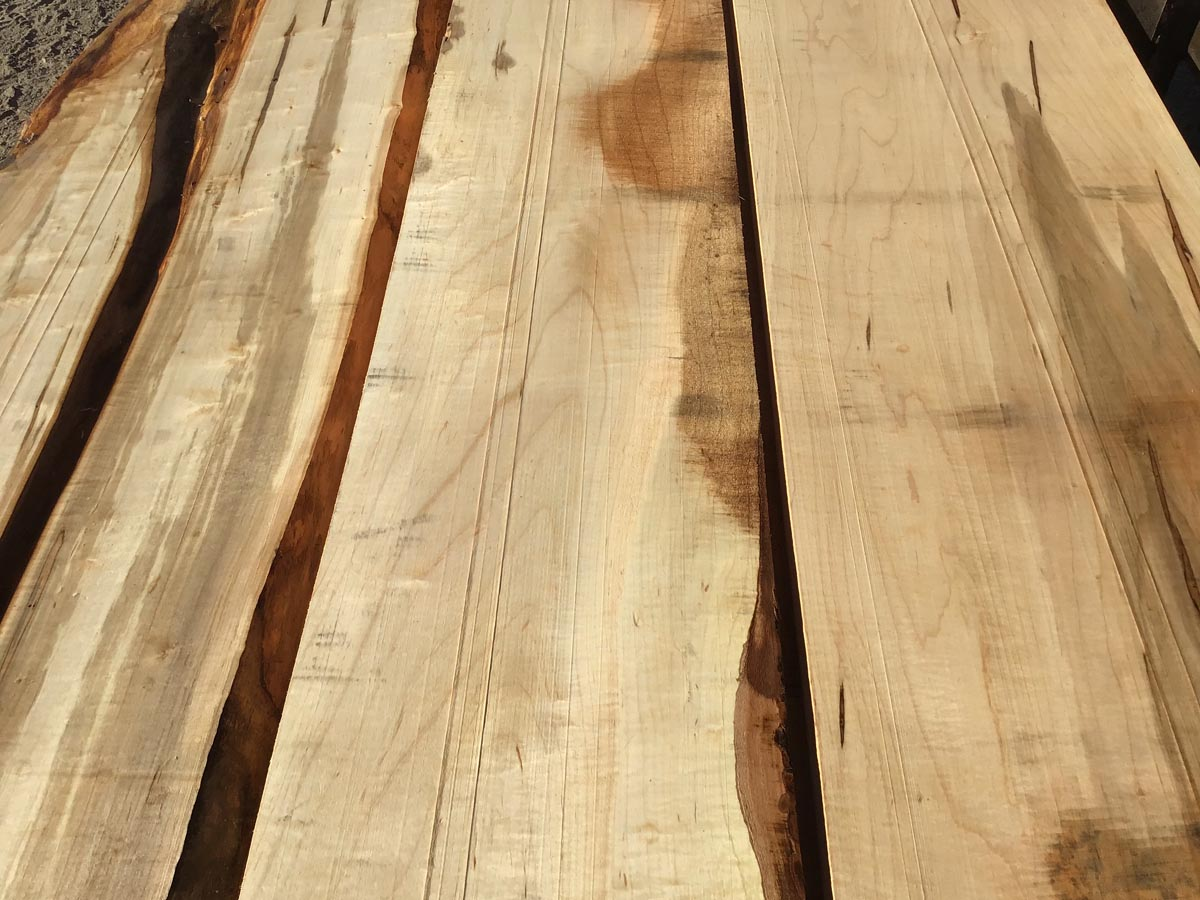 ambrosia maple lumber, wooden tops, hardwood tops, furniture stock