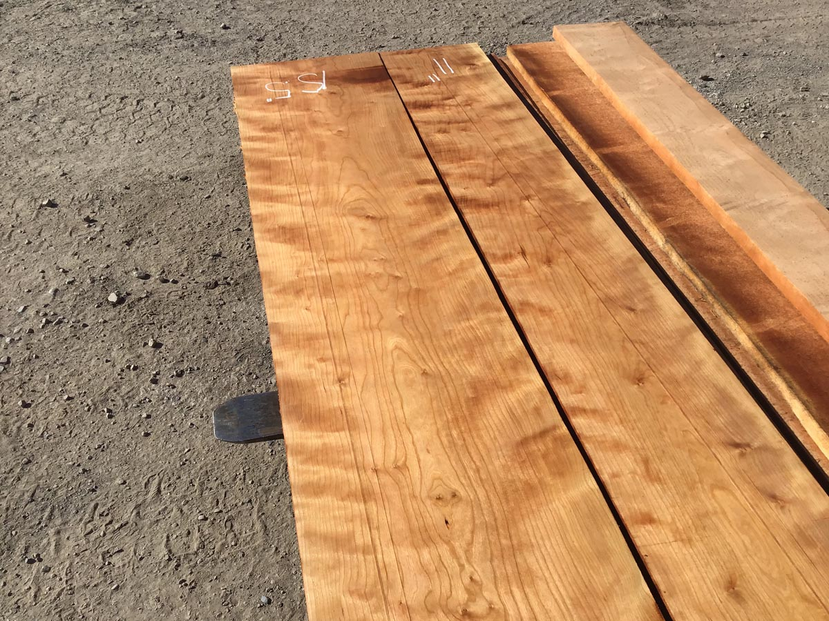 curly cherry lumber, wooden tops, premium curly cherry lumber