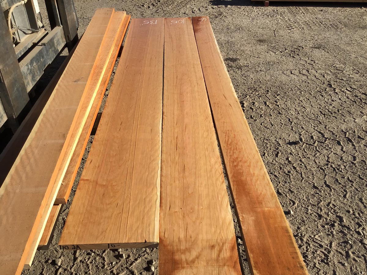 curly cherry lumber, wooden tops, furniture stock, premium lumber