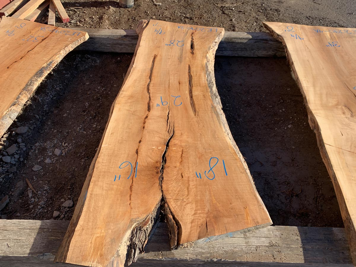 figured maple slab, high quality lumber, wooden top