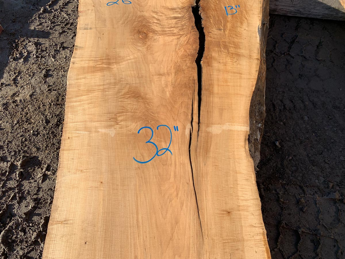 figured maple slab, wooden tops, premium lumber