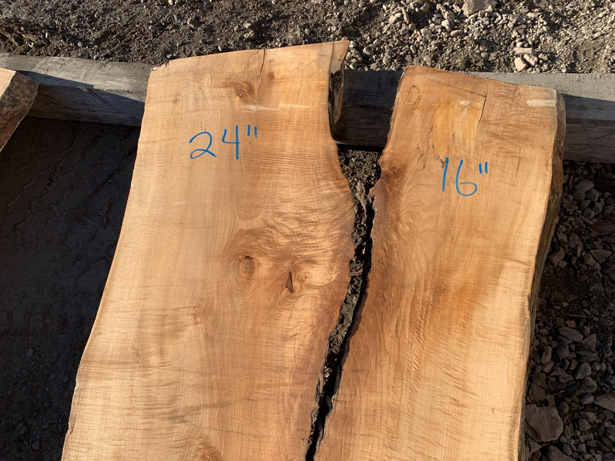 figured maple slab, wooden tops, premium lumber
