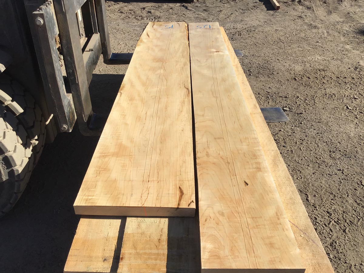 tiger maple lumber, wooden tops, hardwood lumber, high quality lumber