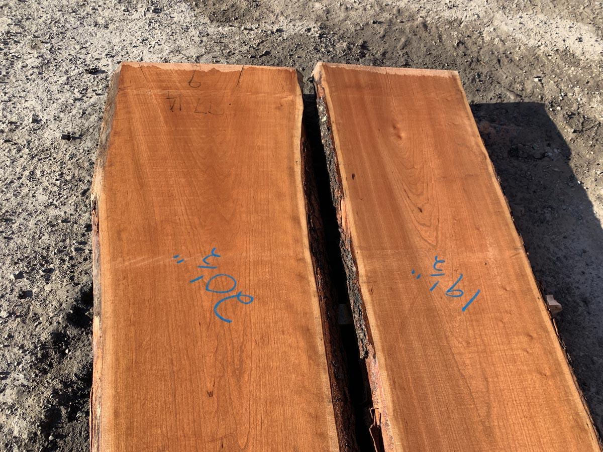 live edge cherry, wooden tabletops, hardwood lumber