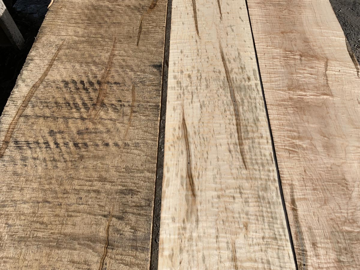 curly ambrosia maple tabletop, premium lumber, wooden tops