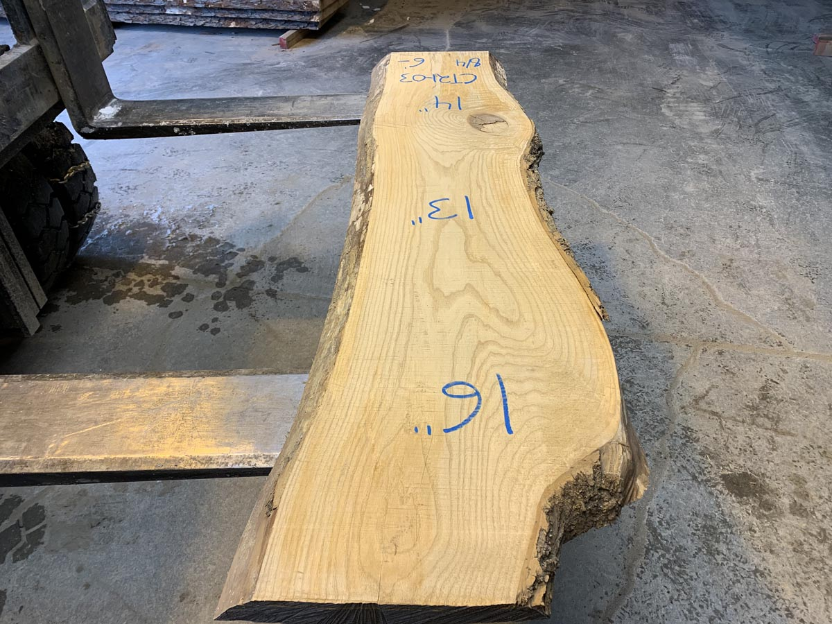 live edge ash tabletop, ash lumber, wooden tops, coffee table tops