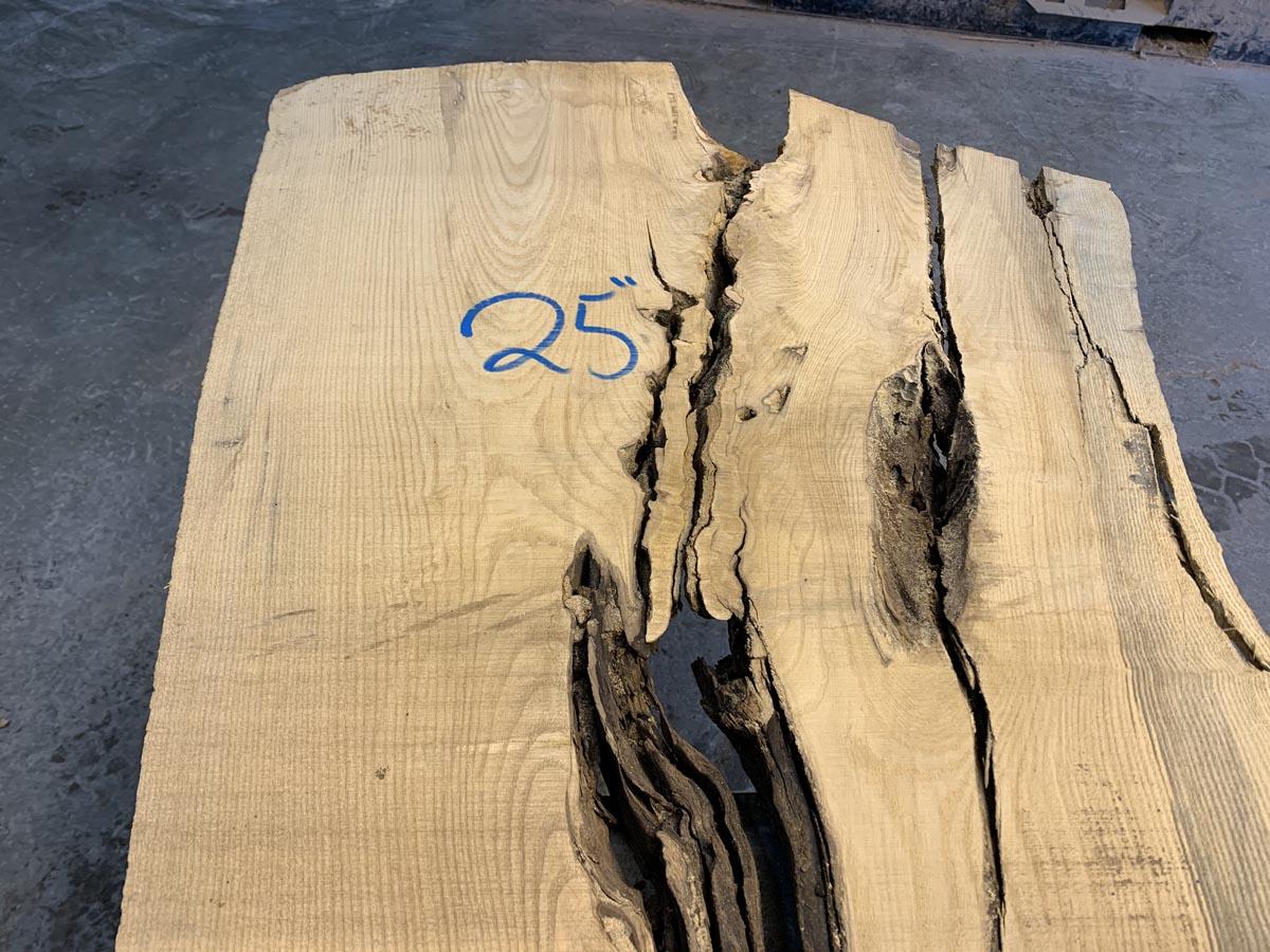 live edge ash slab, ash lumber, wooden tops, rustic topsen tops, rustic tops