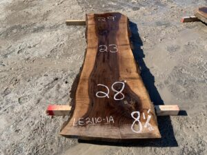 live edge curly walnut slab, high quality lumber, premium lumber