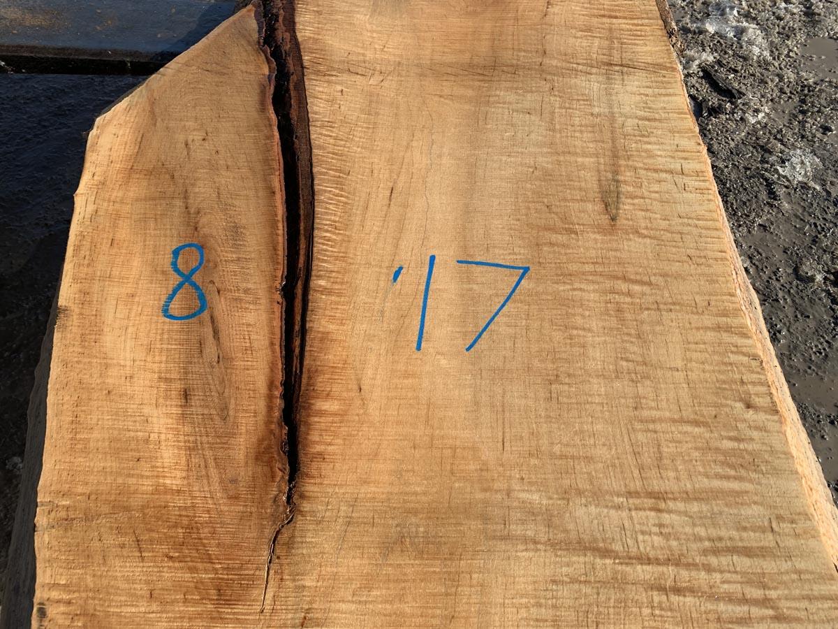 live edge tiger maple slab, tabletop, premium lumber