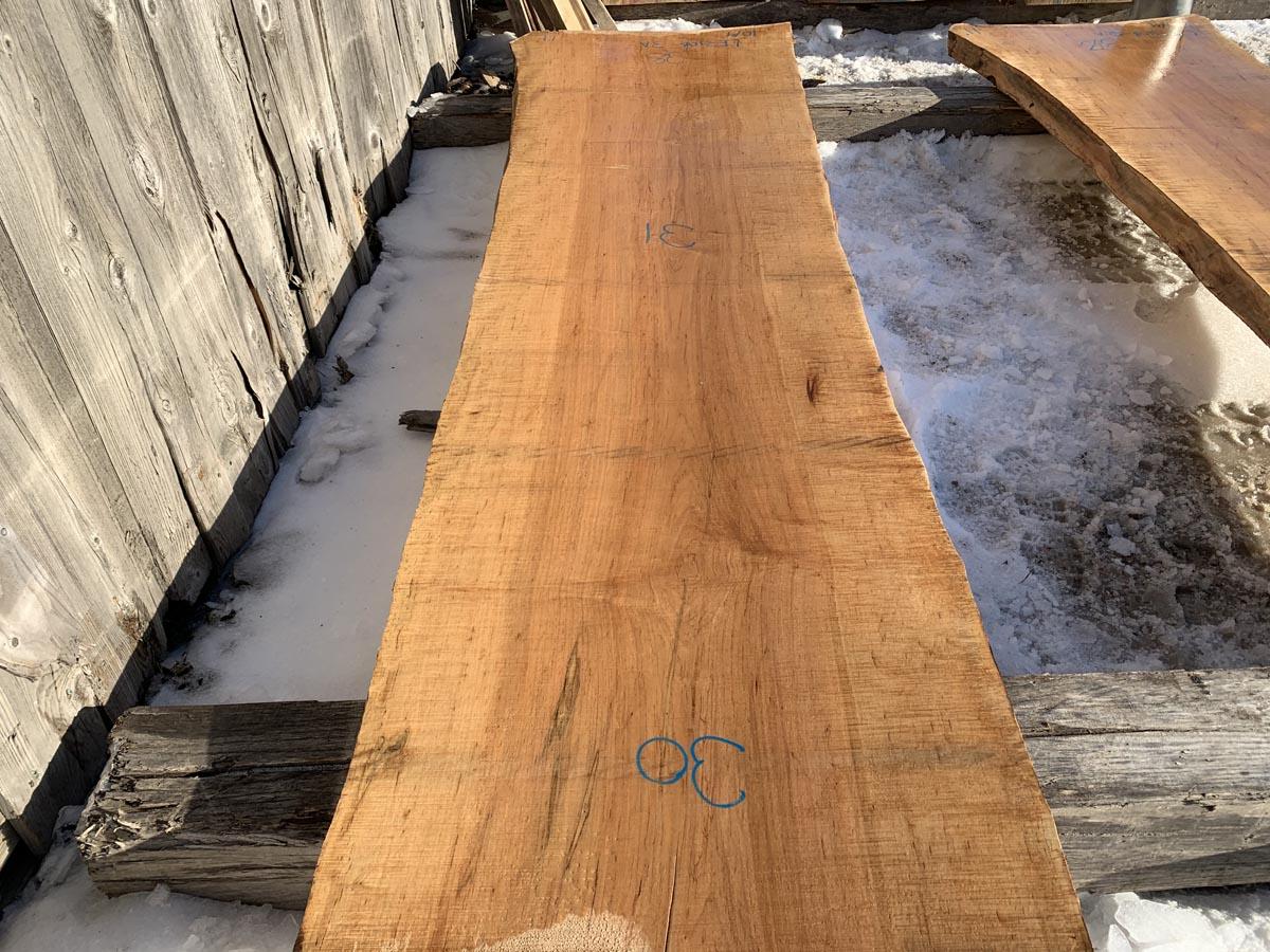 live edge tiger maple slab, wooden tops, premium lumber