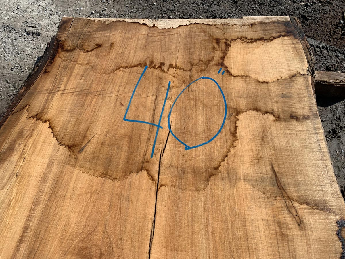 live edge maple slab, hardwood lumber, wooden tops