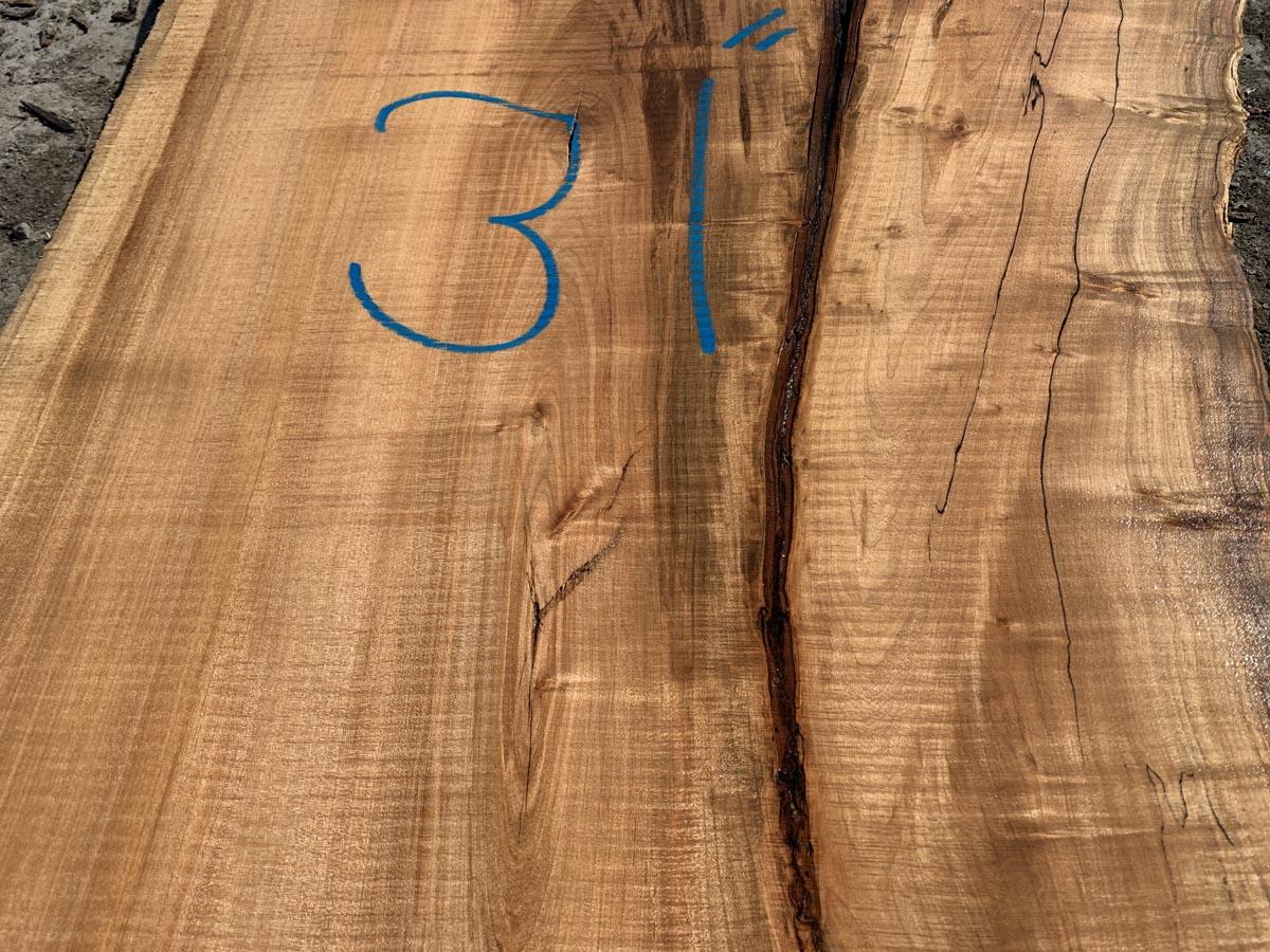 live edge spalted maple slab, rustic lumber, rustic tops, hardwood lumber