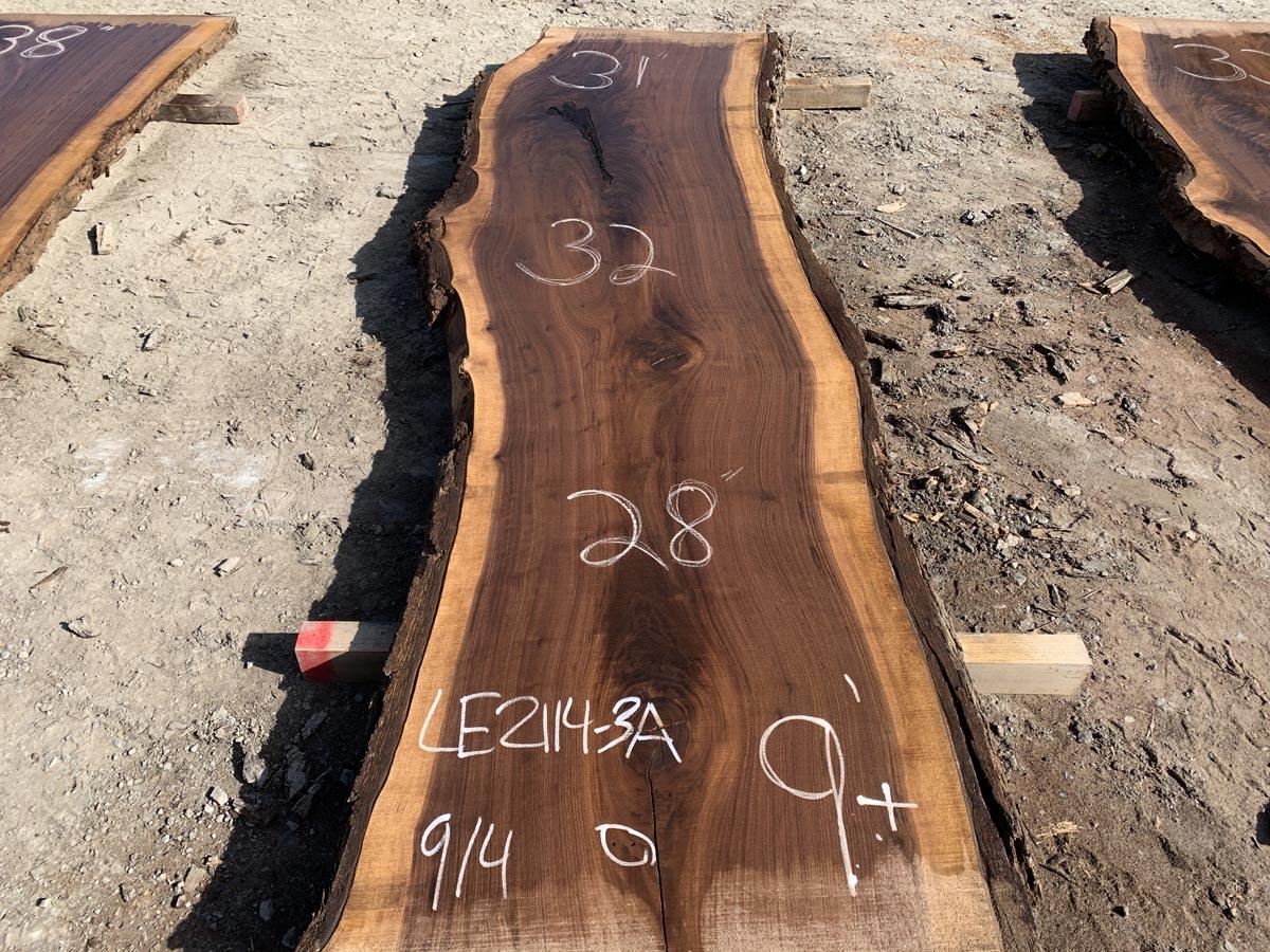 live edge walnut slab, hardwood lumber, premium lumber