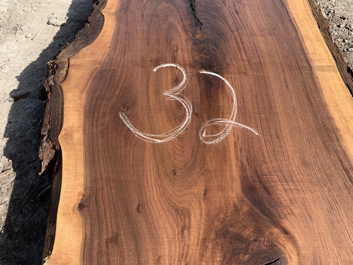 live edge walnut slab, unsteamed walnut, high quality lumber