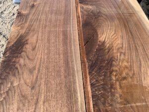 rustic walnut lumber, hardwood tops, unsteamed walnut