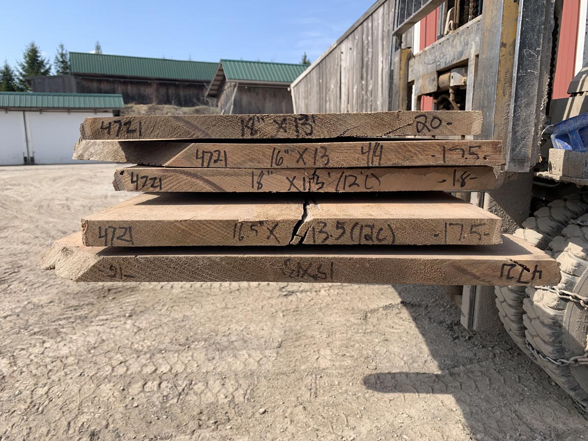 live edge butternut lumber, hardwood tops, rustic tabletops
