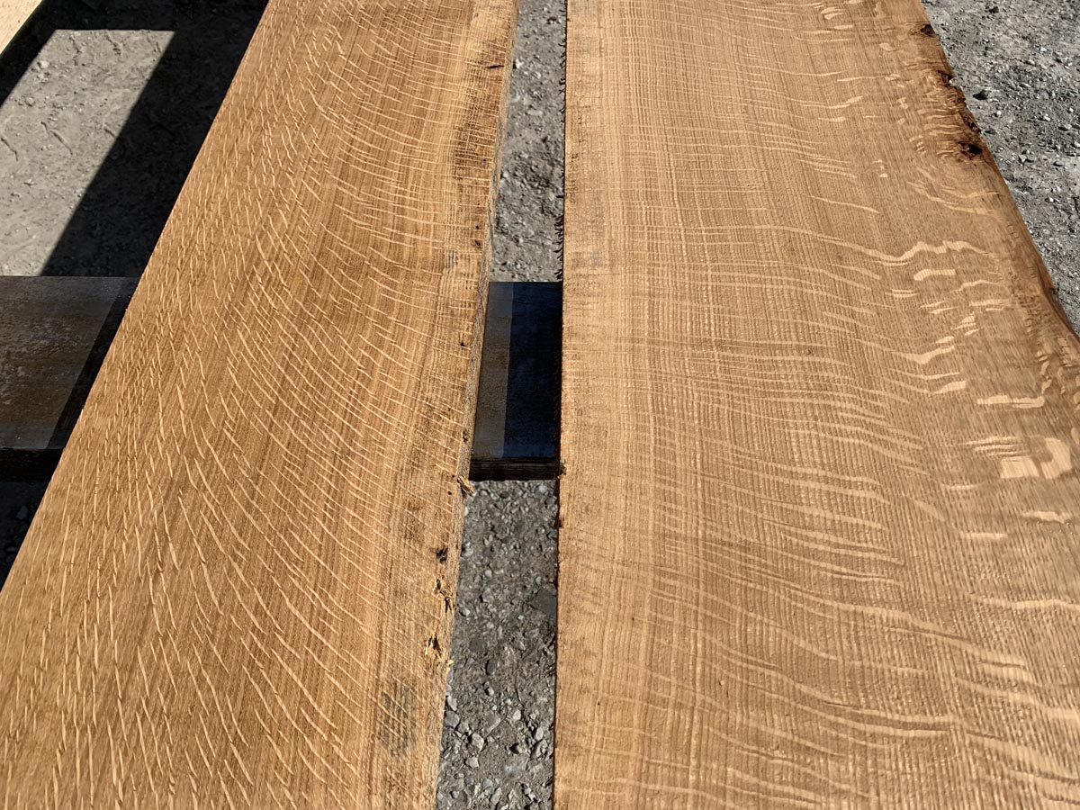 quartersawn white oak lumber, wooden tops, high quality lumber