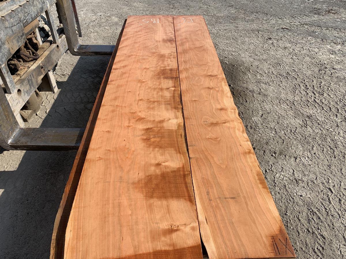 wide curly cherry lumber, premium lumber, wooden tops
