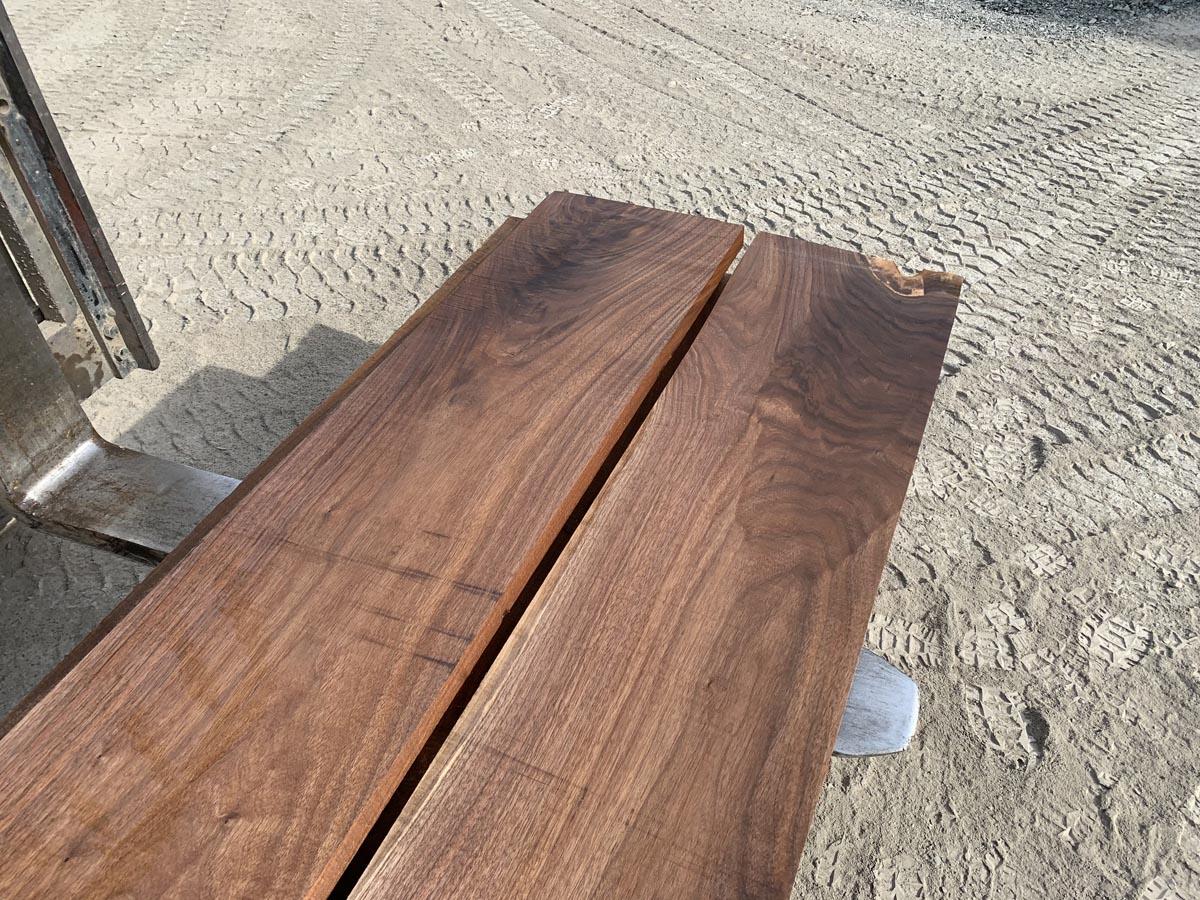wide walnut lumber, unsteamed walnut, premium hardwood