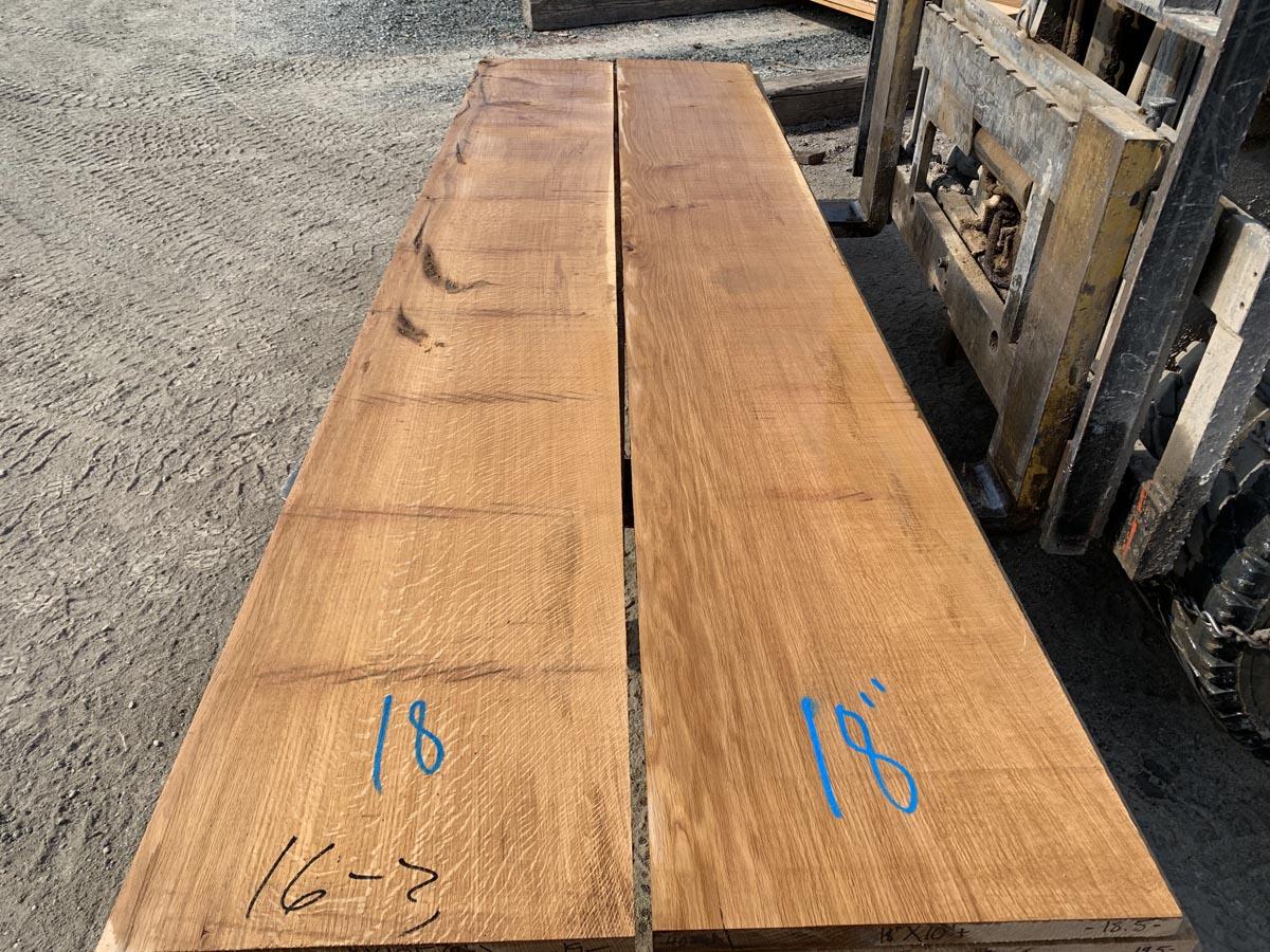 quartersawn white oak, wide white oak, high quality lumber