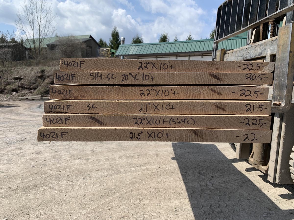 quartersawn white oak, wooden tops, premium lumber