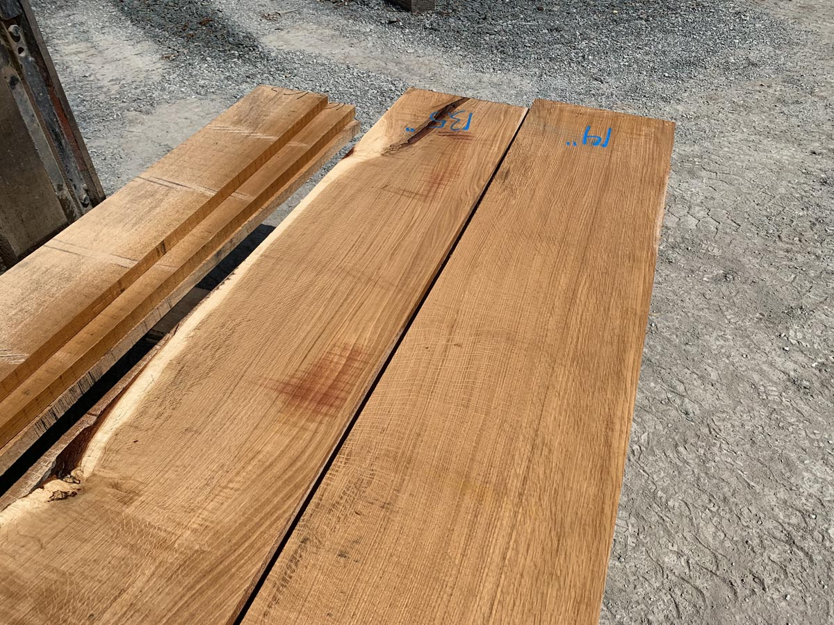 wide white oak lumber, premium lumber, hardwood tops