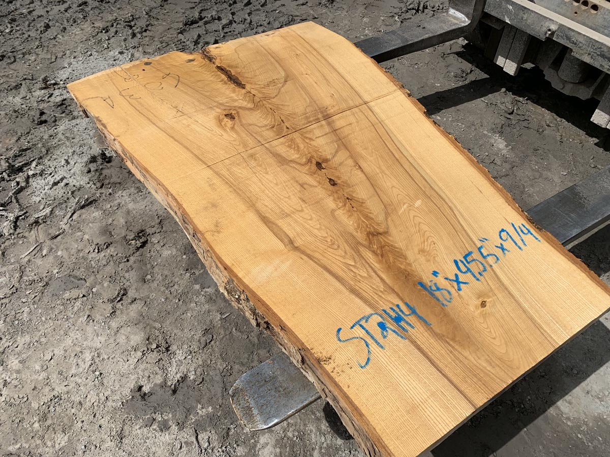 ash side table, ash crotch, wooden tops